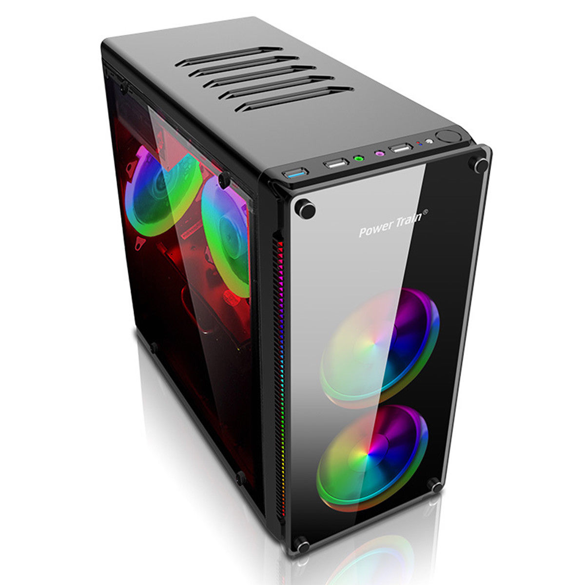 Gaming Pc Case Clear Side Micro Atx Itx Computer Usb 3.0 ...